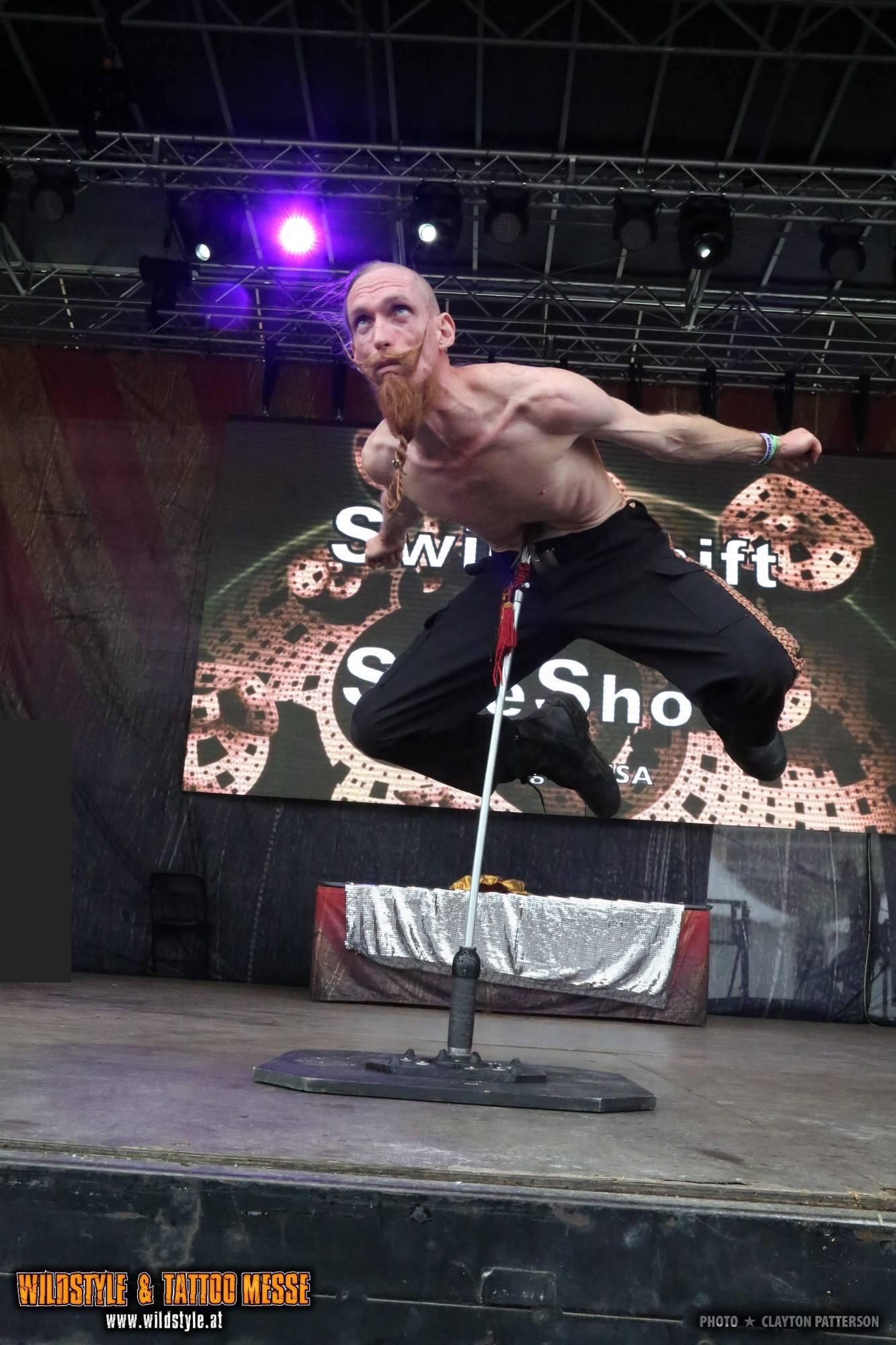Abdominal Spear stunt.